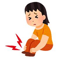 外反母趾の痛みに苦しむ女性