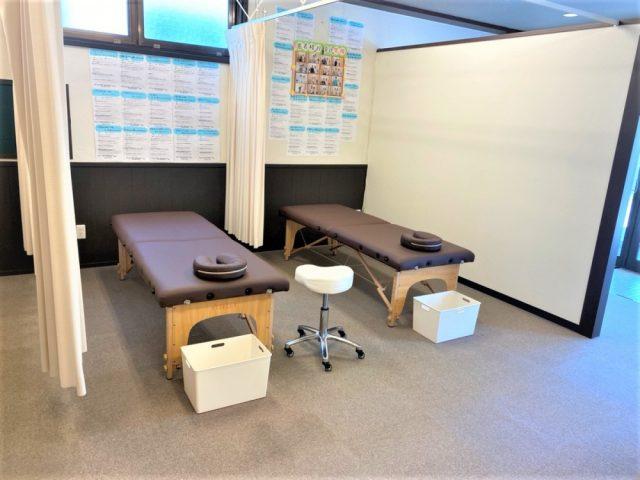 安心して施術を受けられるよう清潔な空間づくりを心がけています。